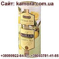 "Чай ""Basilur"" Базилур ""Цветы и Фрукты"" Зеленый - Цитрус, 125г ж/б"