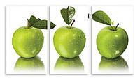 Модульная картина зеленые яблоки
