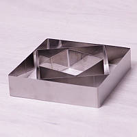 Форма Kamille для выкладки гарнира. 3 квадратные формы гарнира 10 см, 15 см, 20 см