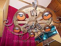 Люстра колесо от телеги старинная