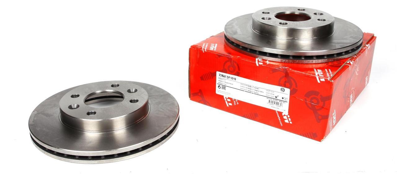 Диск тормозной (передний) (К-кт 2 шт.) Renault Kangoo 1.2i/1.4i/1.9D 97-00 (-ABS) (238x20)
