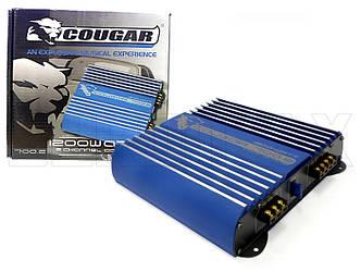Усилитель звука автомобильный Cougar 2000Вт 2 канала 700-2