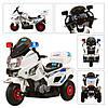 Мотоцикл M 0599 A-1  2мот 6V,аккум12V/7A,рез.надув кол,3-8лет,белый,в кор-ке,79-50,5-52см