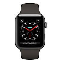 Apple Watch Series 3 (GPS) 38mm Space Gray Aluminum w. Gray Sport B. - Space Gray (MR352), фото 1