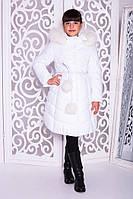 Теплое зимнее пальто для девочки
