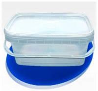 Контейнер пластиковый пищевой прямоугольный с крышкой 2,3л