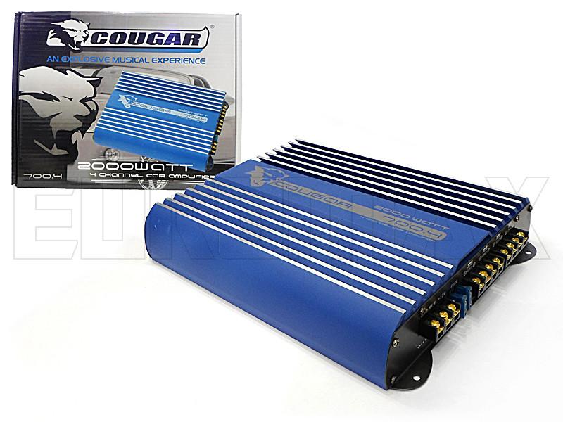 Усилитель звука автомобильный Cougar 2000Вт 4 канала 700-4