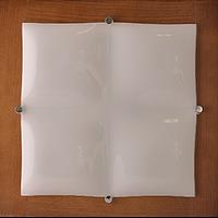 Квадратный накладной потолочный светильник орех 4*60Вт Vesta Light 33012