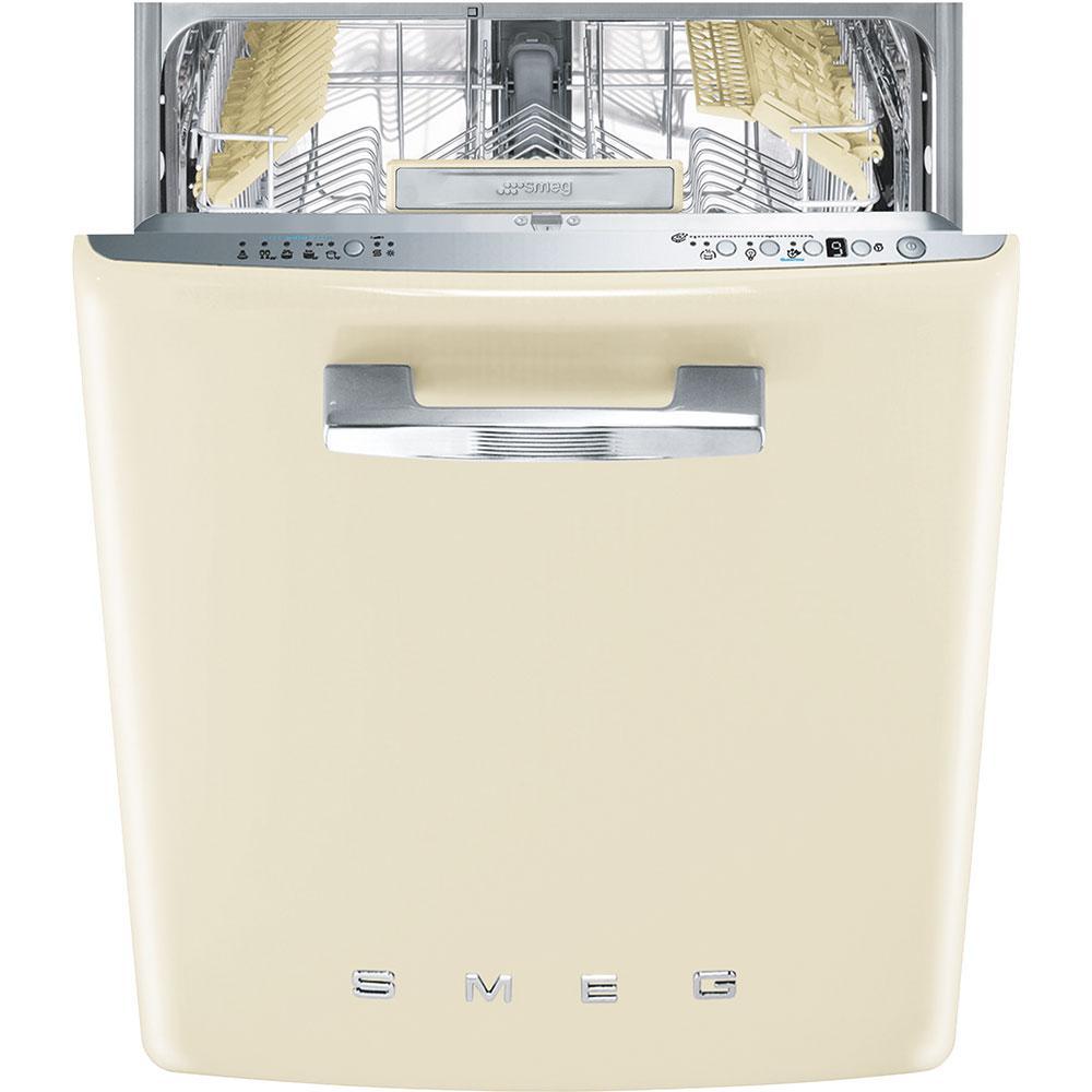 Встраиваемая посудомоечная машина, стиль 50-х годов, Smeg ST2FABCR кремовая