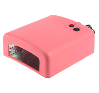 УФ лампа 818 на 36 вт для маникюра UV Nail lamp —Розовая