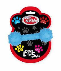 Іграшка для собак Гантель зі звуком Pet Nova 14 см синій