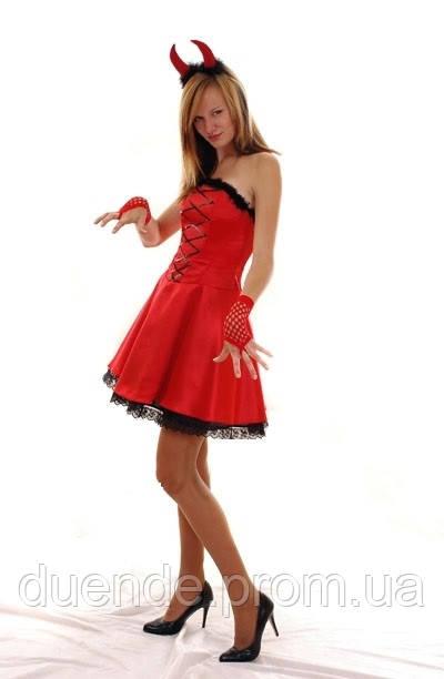 Чертик карнавальный женский  костюм