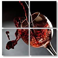 Модульная картина бокал красного вина