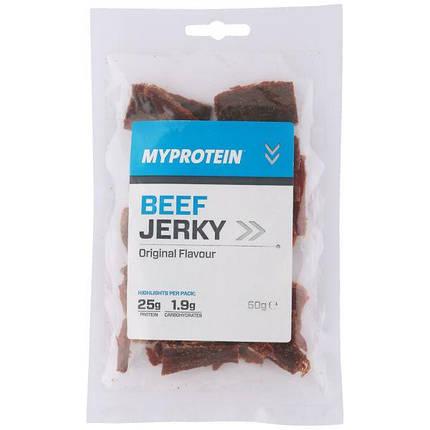 Beef Jerky MyProtein 50 g (в'ялена яловичина), фото 2