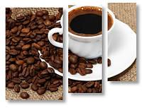 Модульная картина зерна и кофе 3д