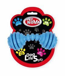 Іграшка для собак Гантель SuperDent Pet Nova 12 см синій