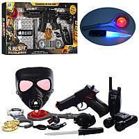 Детский игровой набор полицейского H885-6-7 пистолет/автомат, звук, свет, 3 вида, на бат-ке, в кор-ке,