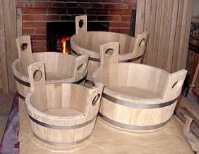 Шайка дубовая для бани и сауны - 7 литров