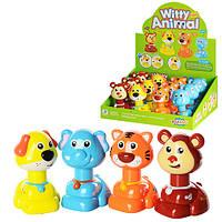 Заводная игрушка MW333  животное 11,5см, ездит, 12шт  в дисплее, 34-29-12,5см