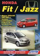 Книга Honda Jazz, Fit 2001-2007 Руководство по эксплуатации, ремонту и техобслуживанию