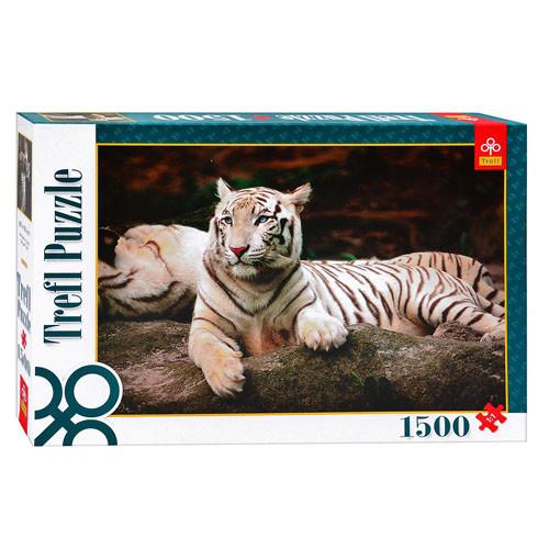 Пазлы 26075  Trefl, Бенгальский тигр, 1500 дет, в кор-ке, 40-27-6см