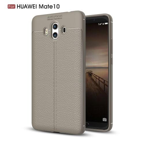 Чехол накладка силиконовый TPU Litchi Grain для Huawei Mate 10 серый
