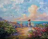 «У моря» картина маслом