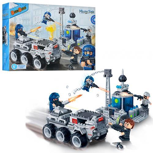 Конструктор BANBAO 6209  военная техника, фигурки 4шт, 328дет, в кор-ке, 40-30-7см