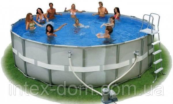 Каркасный бассейн Intex 54456 ИНТЕКС 549x132 см. в комплекте фильтр насос и аксессуары КИЕВ