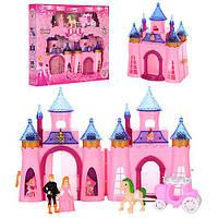 Замок CB688-5  принцессы, 21-17-10см,фигурки 2шт, карета с лошадью, в кор-ке, 39,5-36-6,5см