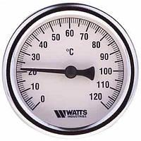 """Термометр биметаллический  Ф100  1/2"""" с гильзой 100мм WATTS Германия"""