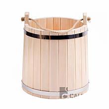Ведро деревянное 10 л (липа) ПРО