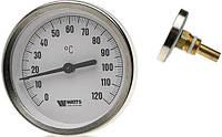 """Термометр биметаллический  Ф100  1/2"""" с гильзой 50 мм WATTS Германия"""