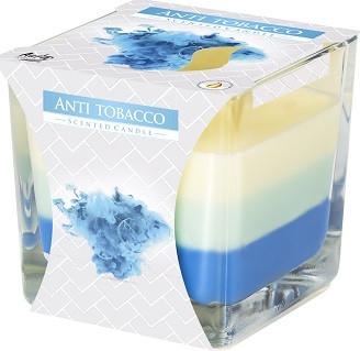 Свеча ароматизированная трехцветная Bispol Антитабак 8 см (snk80-69)