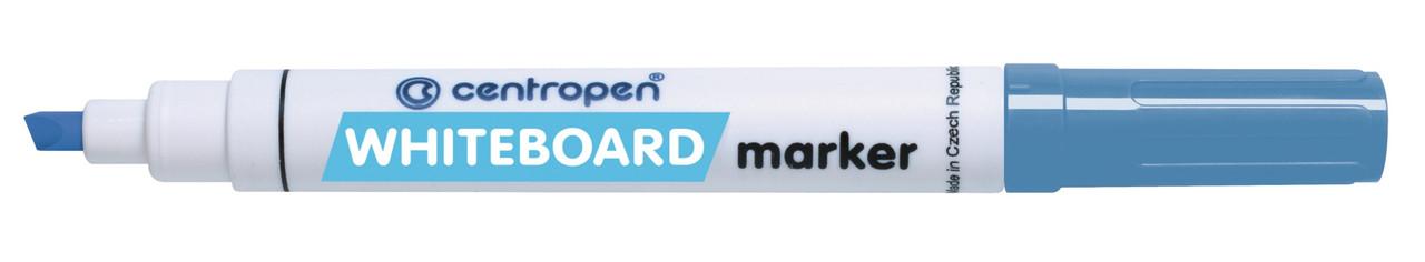 Маркер для доски, голубой, клиновидный, Centropen, 8569, 635209