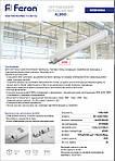 Світлодіодний промисловий світильник Feron AL5065 600 мм 16W IP65 4500K, фото 4