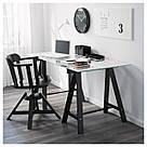 ОДВАЛЬД Опора для стола, черная, 101.189.71, фото 2