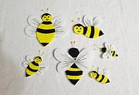 Набор нашивок пчелки 6 шт для одежды, для развивающих книг