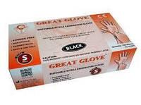 Рукавички нітрилові чорні Great Glove, 100 шт. (Розмір XS)