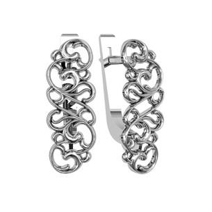 Серьги серебряные Морозко 2  110265