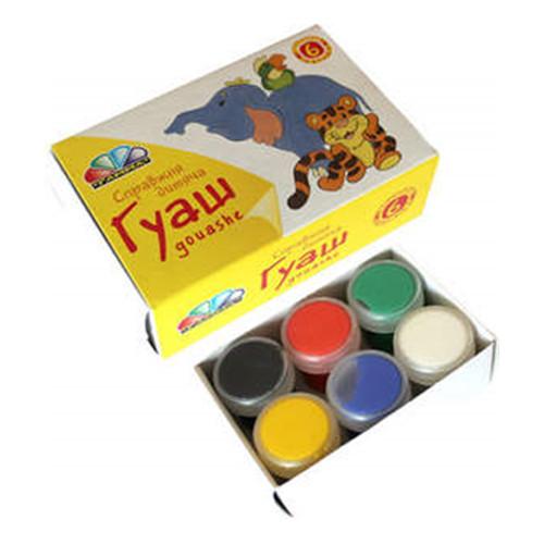 Фарби  гуашеві 6кол. Улюблені іграшки 221031
