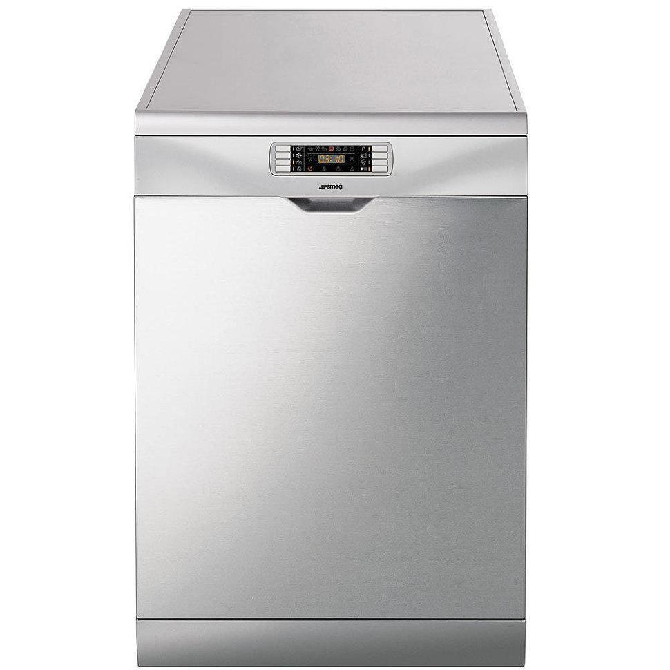 Окремо стоїть посудомийна машина Smeg LVS367SX срібляста
