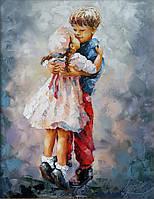 «Первая любовь» картина маслом