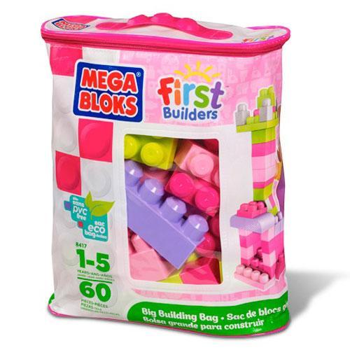 МБ Серия 'First Builders'.Набор конструктора в пакете 'Розовый',60 дет.,1+