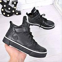 Ботинки женские Timberland Sport Зима черные 3800, ботинки женские
