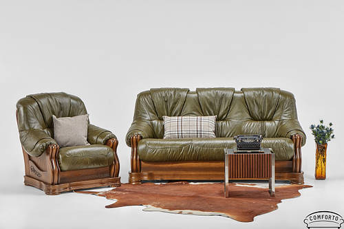 "Классический кожаный комплект мебели ""Kansas"" (Канзас)"