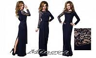 Красивое длинное платье в пол в расцветках с разрезом, р-ры 42, 44, 46, 48