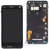 Дисплей (экран) для телефона HTC One M7 801e + Touchscreen with frame Original Black