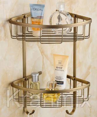 Полка для ванной Aquaroom бронза