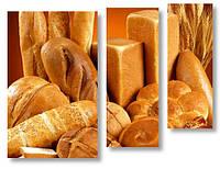 Модульная картина хлеб и булочки